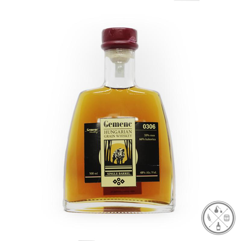0306 whiskey díszüvegben